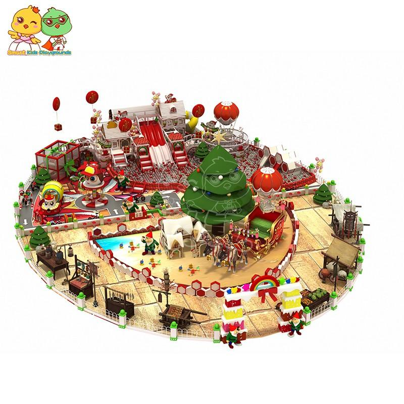 SKP customized wooden playground equipment for kids fun for plaza-3