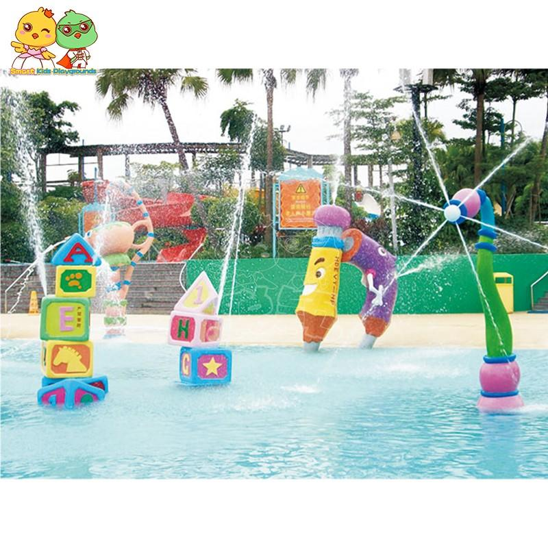 SKP play water slides simple assembly for play centre-2