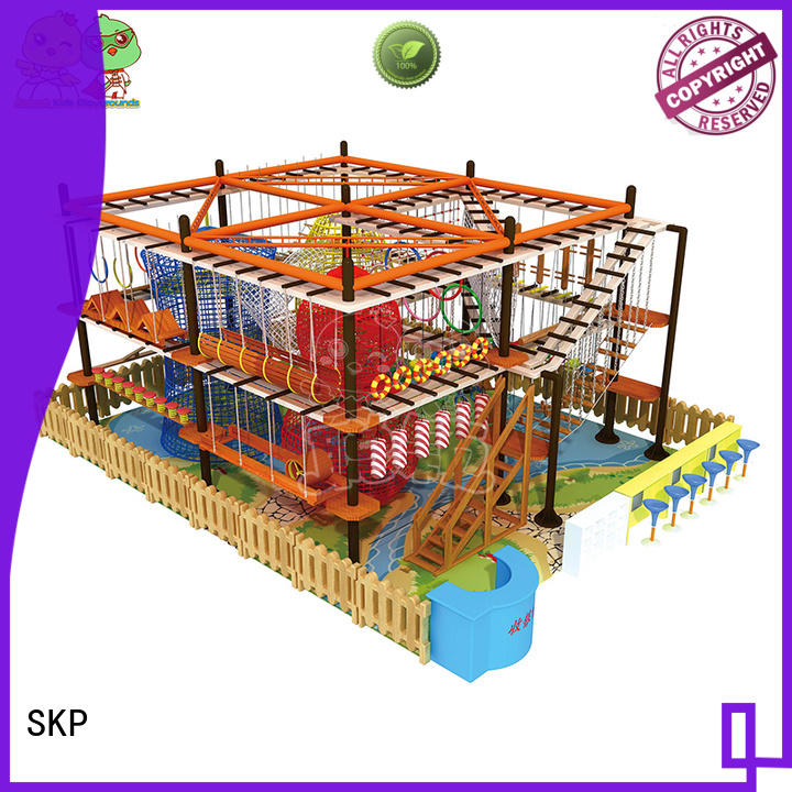 SKP security rope play equipment for challenge for Kindergarden