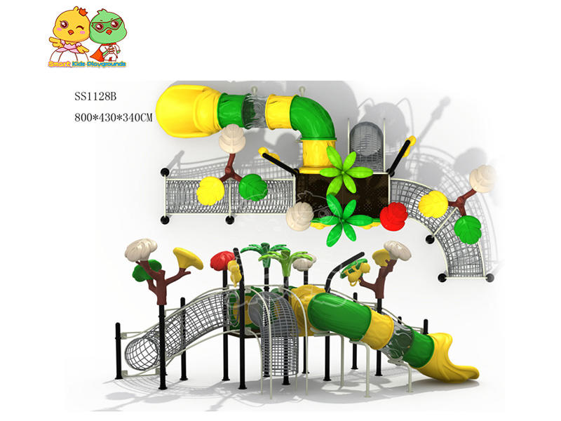 stable wooden slide plastic directly sale for Amusement park-1