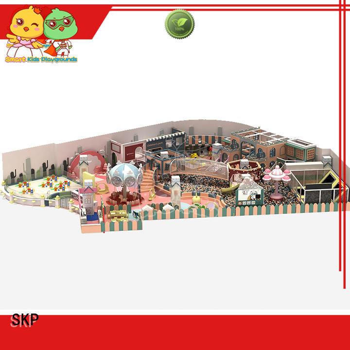 SKP wooden playground equipment for fitness for shopping mall