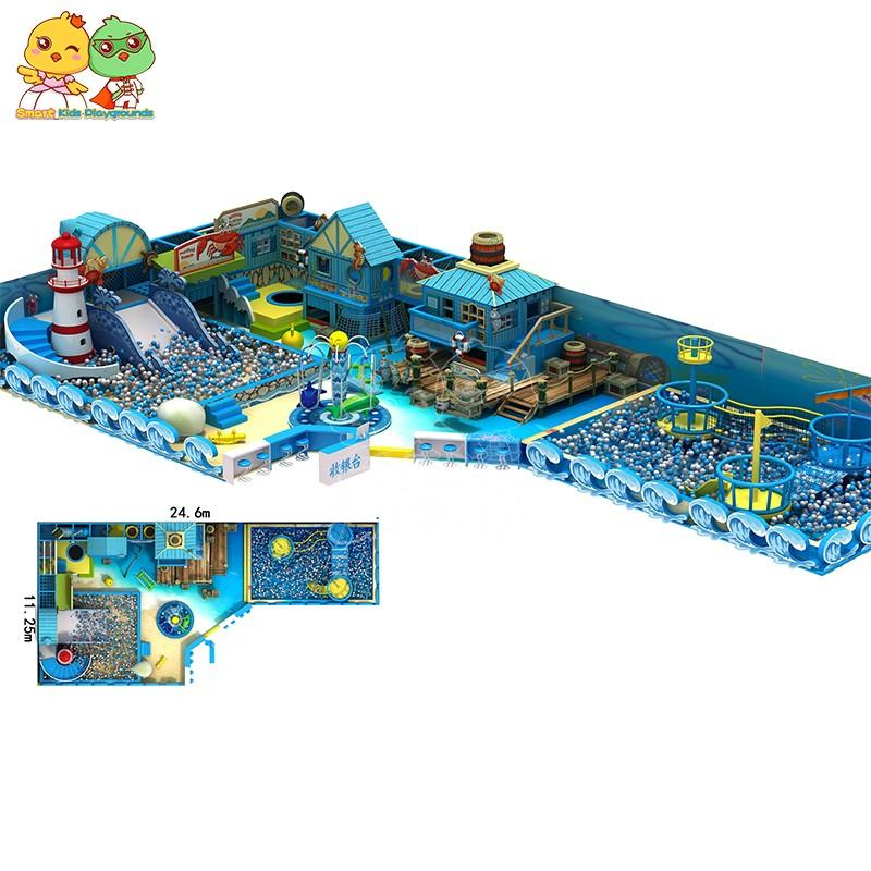 SKP castle ocean themed playground from China for Pre-school-1