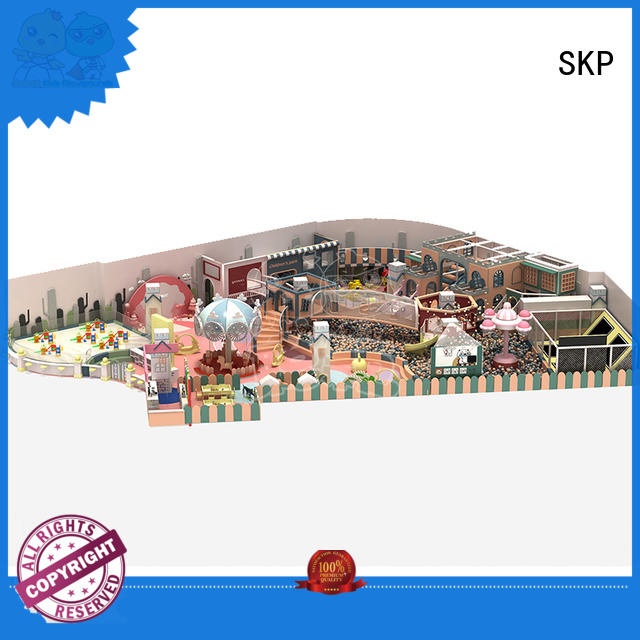 SKP wooden playground equipment high quality for play centre