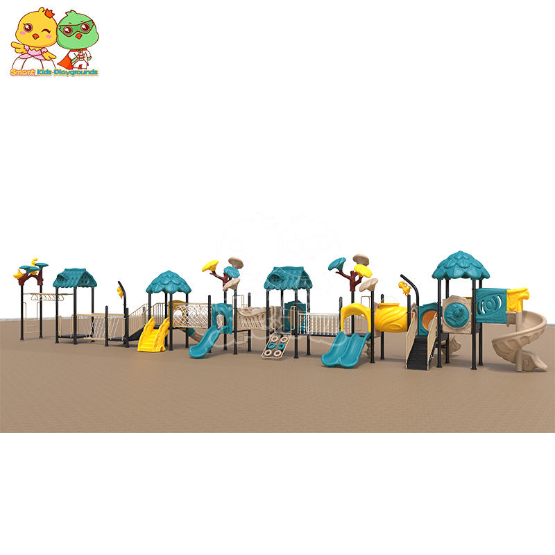 SKP playground plastic slide directly sale for residential area-2