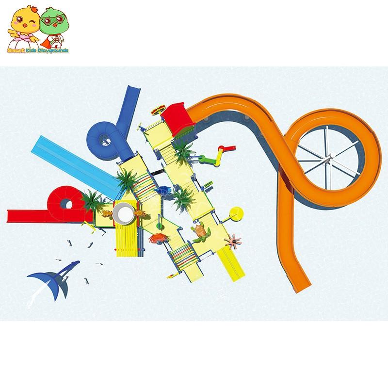 durable park water slides items simple assembly for play centre-2