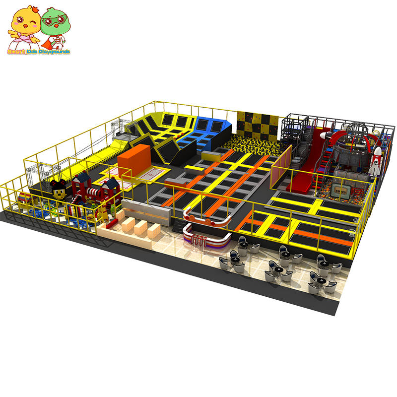 Indoor trampoline park case large and high quality kids trampoline