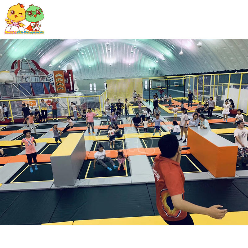 Indoor trampoline park case large and high quality kids trampoline