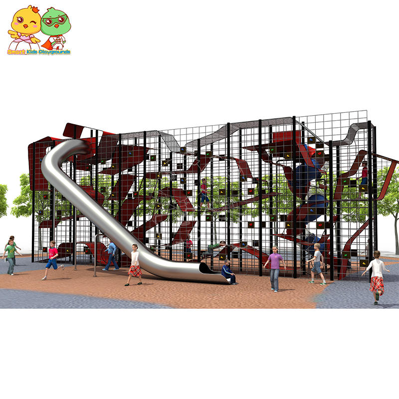 Children climbing wall slide customized commercial for sale