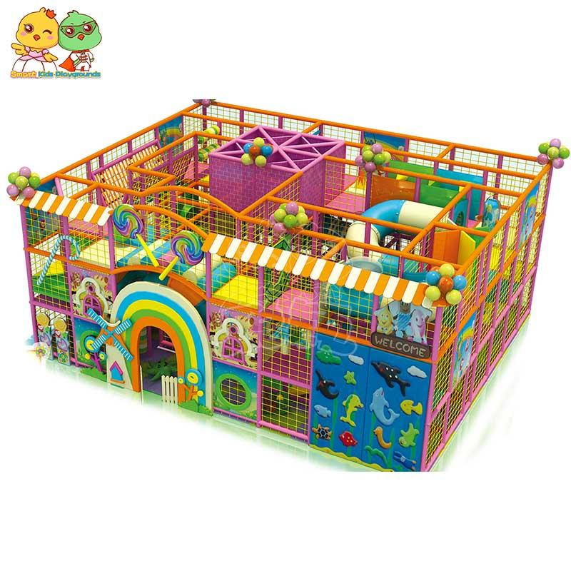 Candy indoor playground maze equipment for children SKP-1811201