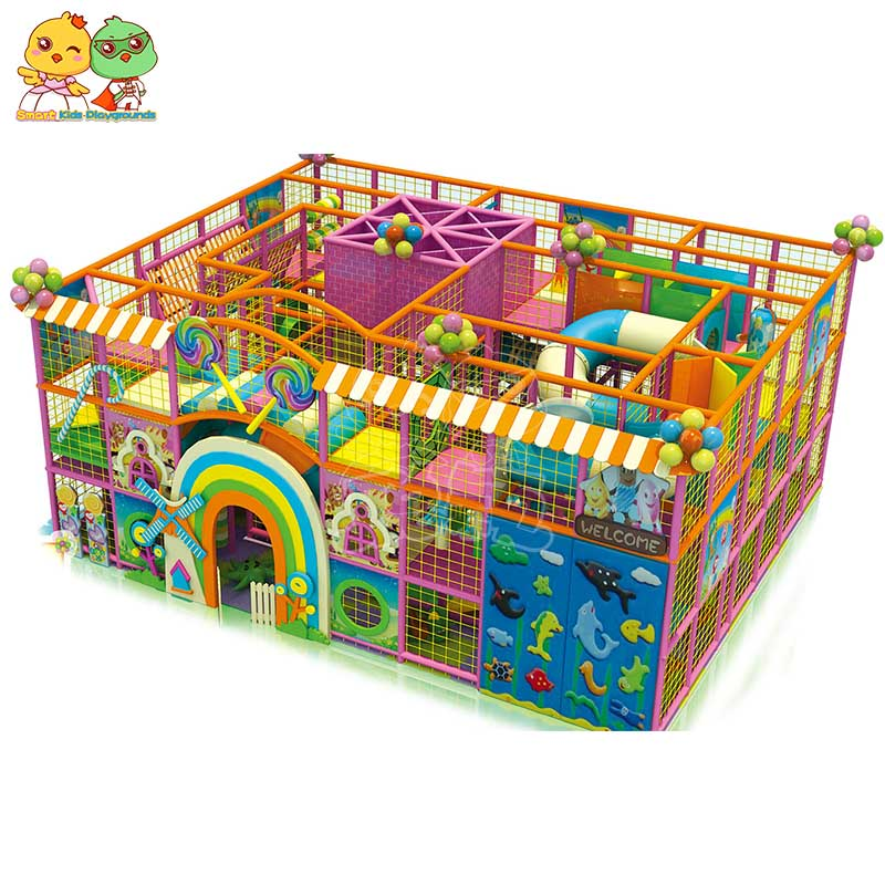 safe candy theme playground maze supplier for play centre-1
