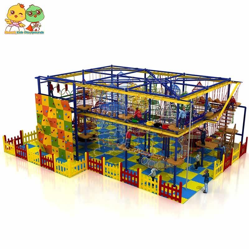 Rope play course equipment indoor playground for for challenge  SKP-1811203