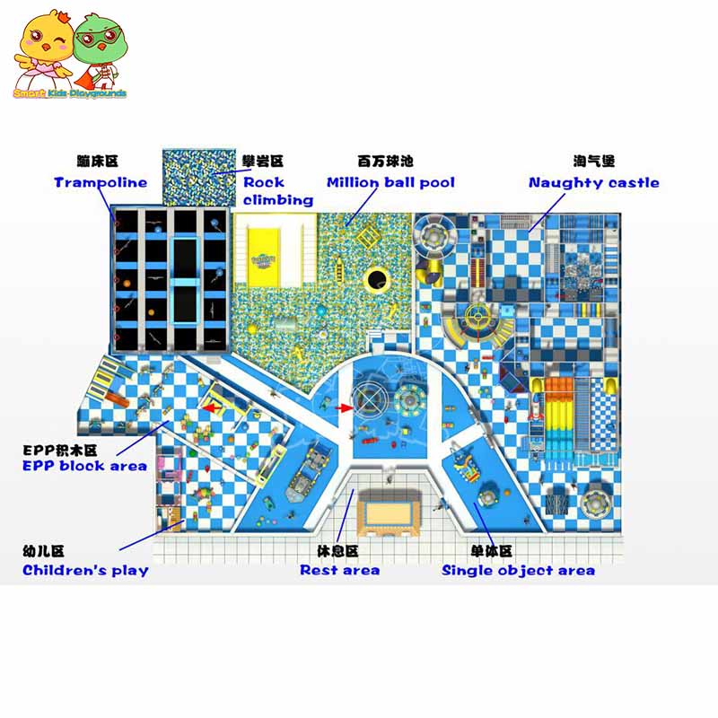National standard space theme playground maze Slide for play centre-2
