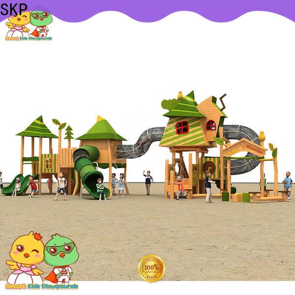 SKP outdoor plastic slide for supermarket