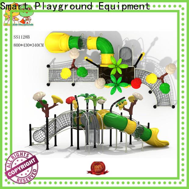stable tube slide wooden for pre-school