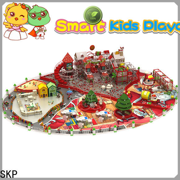 SKP funny wooden playground equipment high quality for indoor
