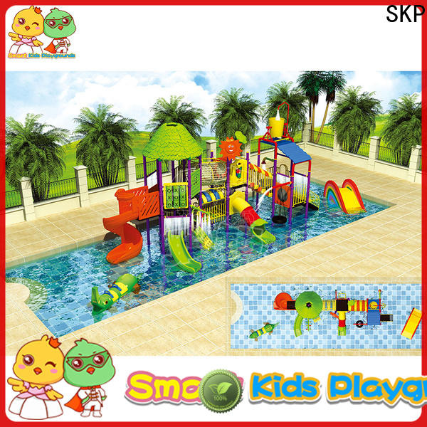 SKP popular park water slides simple assembly for plaza