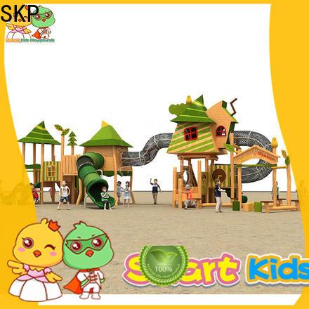SKP outdoor wooden slide wholesale for supermarket