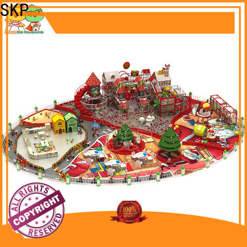 SKP customized wooden playground equipment for fitness for plaza