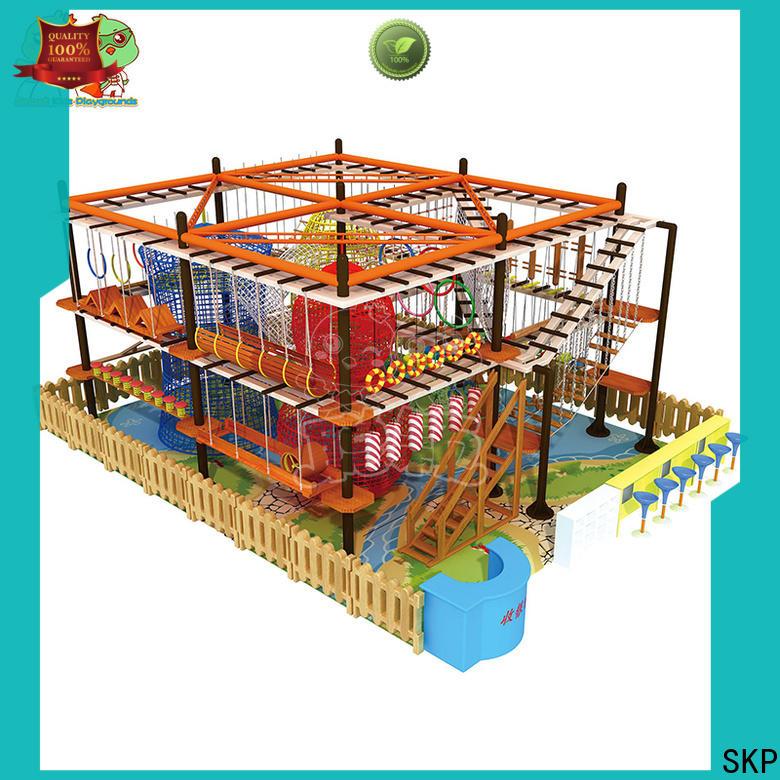 SKP indoor rope play equipment supplier for indoor play area