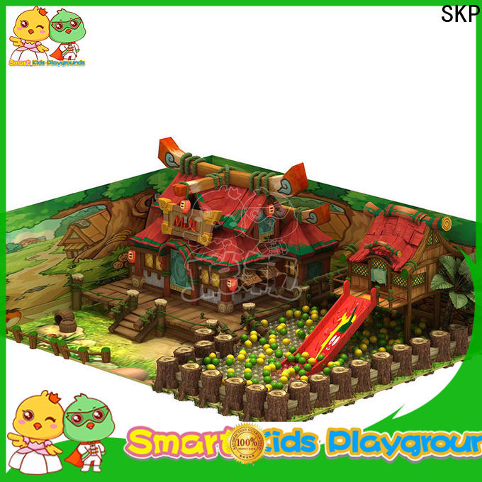 SKP popular wooden playground equipment high quality for plaza