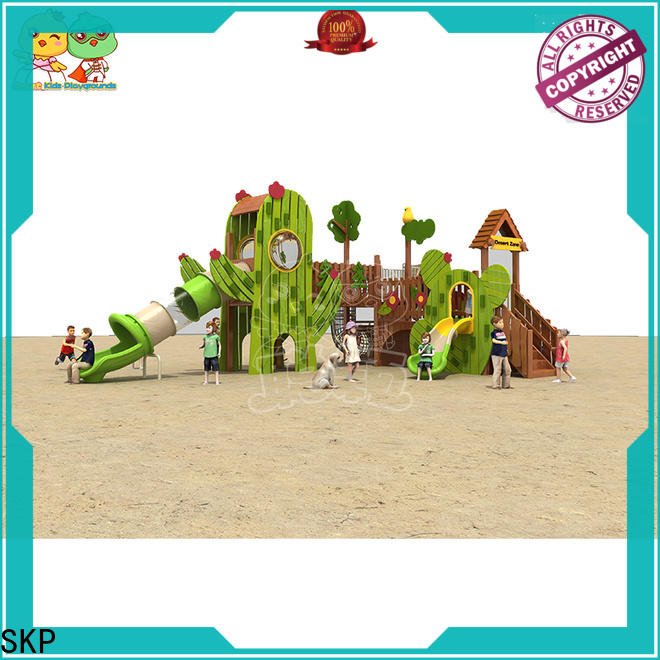 SKP safe wooden slide online for residential area