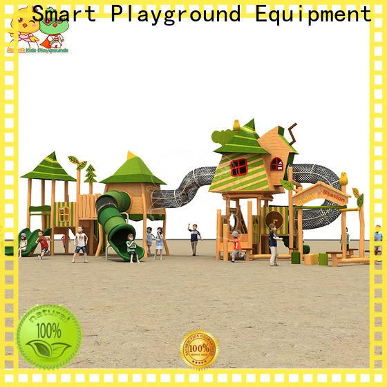 SKP amusement wooden slide for kindergarten