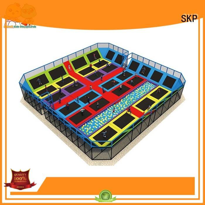 SKP Customized kids indoor trampoline big for amusement park