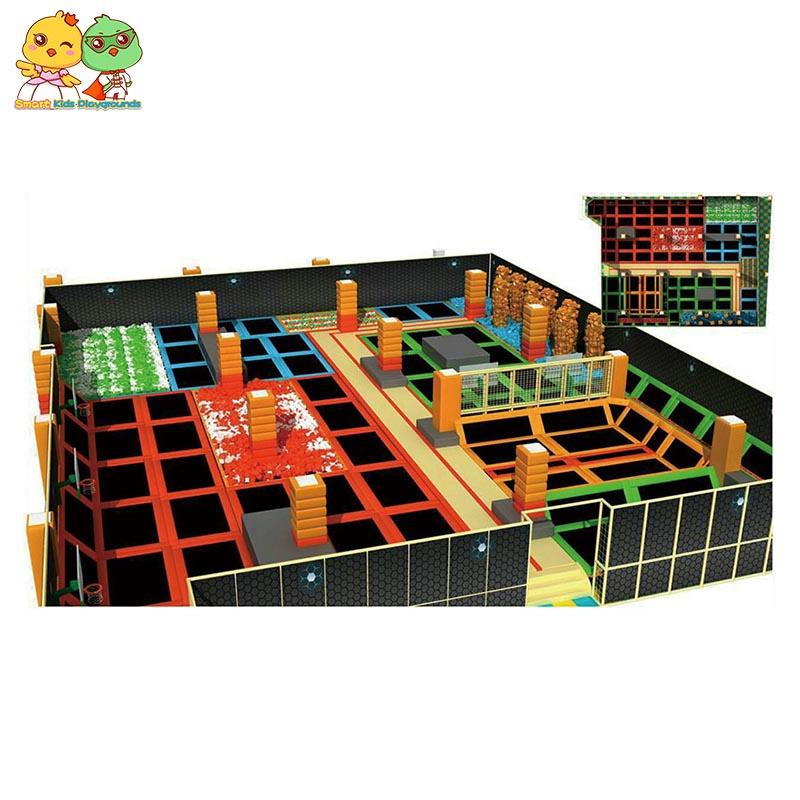 big trampoline indoor trampoline park equipment for sale SKP-1811204-2