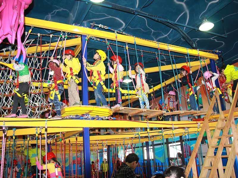 Rope play course equipment indoor playground for for challenge  SKP-1811203-3